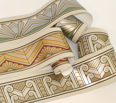 new art deco borders these shimmery borders are based on period ...