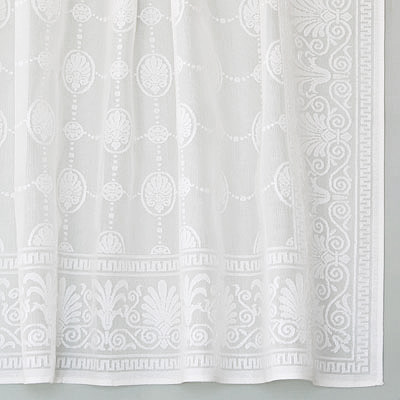 Vintage Victorian Cotton Lace Curtains Grecian Panel