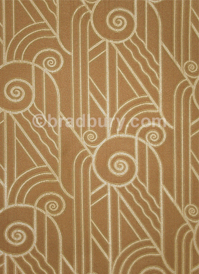 Bradbury Art Deco Fabric For Upholstery And Drapery Volute
